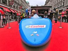 Electric Bluebird at the Regent Street Motor Show