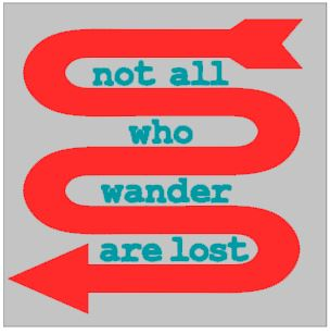 thumbnail for Not all who wander are lost