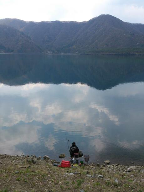Fishing on Lake Saiko