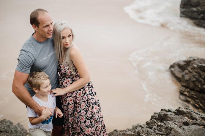 Family Beach Photo Shoot at Glentana beach near George, Garden Route