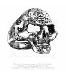 R122 Omega skull ring