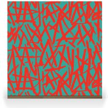 Brush on Colour - Red on Turquoise