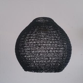 thumbnail for 450mm diameter resin ball shade in black bodhi stitch