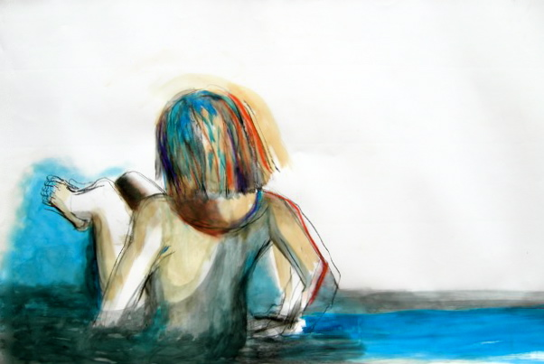 Girl in the blue