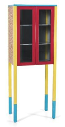A RED-AND-YELLOW D'ANTIBES CABINET BY GEORGE J. SOWDEN FOR MEMPHIS, 1981