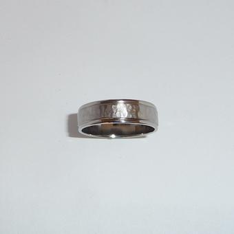 thumbnail for Hammered finish Wedding band