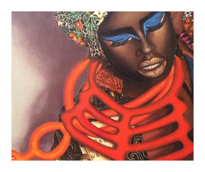 Nicole Schachat    Symphony of colour     Acrylic    41x51cm    R 4000