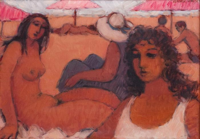 Women on the beach - SOLD
