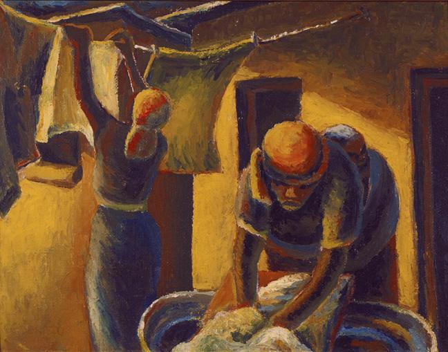 Gerard Sekoto: Washerwomen - SOLD