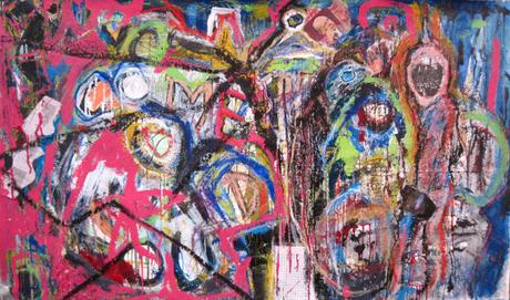 thumbnail for Welcome to the Inside/Benvenutti al Interno, mixed media on 40 x 60