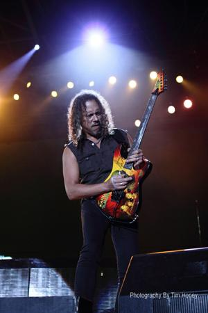 Kirk Hammett of Metallica at Bellville Velodrome, Cape Town 20130424 [44011]
