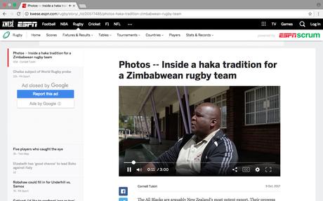 ESPN (US) - The Harare Haka