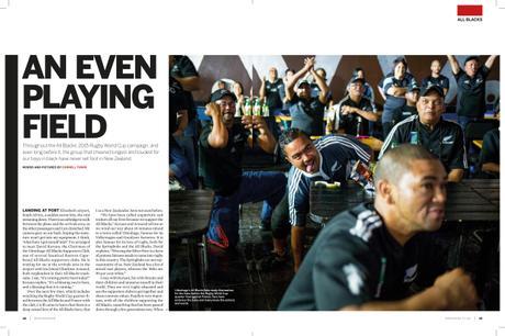 Mana Magazine (NZ) - An Even Playing Field - Fanatical South African All Blacks Fans