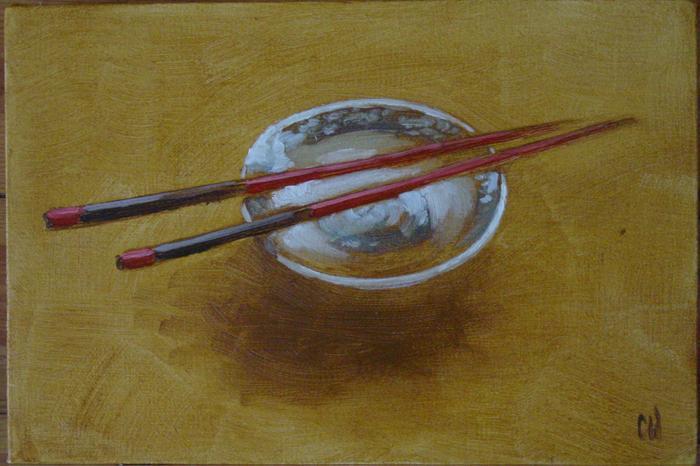 Oriental Bowl and Chopsticks