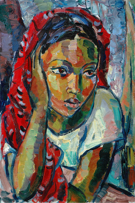The red scarf - SOLD