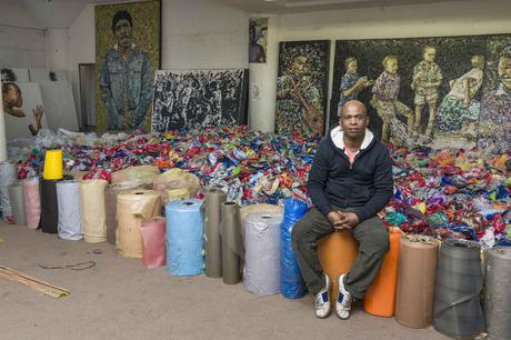 Mbongeni Buthelezi in his August House studio