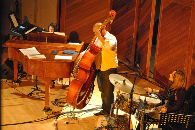 The SIS Trio live at the Nassau 2010: Lisa B - drums, Wesley Rustin - Dbass & Muriel Marco - piano