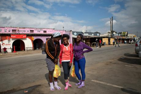 thumbnail for High school students Mercy Suwilanji, 16 and Esther Chipukula, 16 and Florence Moyo, 17- Matero
