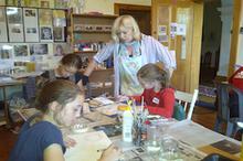 Natalie at art class