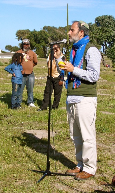 Rabbi Greg Alexander performs the Sukkot ritual