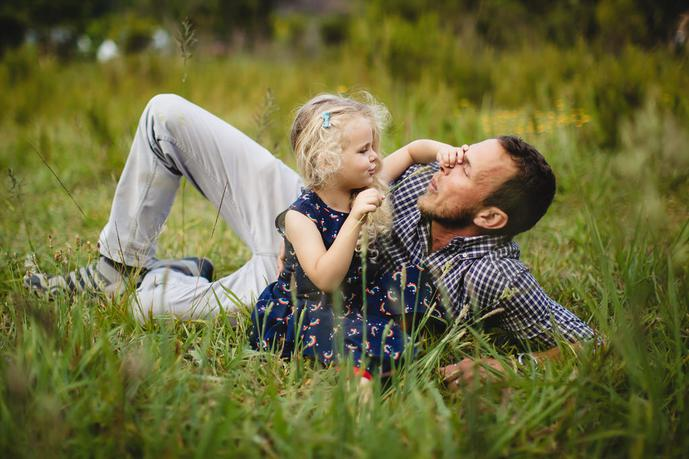 thumbnail for Father and daughter moment in the George Botanical Gardens, Western Cape, South Africa.