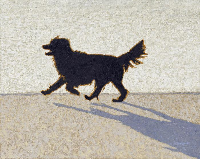 Dog on Clifton beach - SOLD