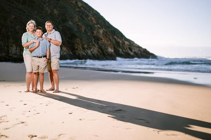 Family Beach Portraits in Herolds Bay South Africa