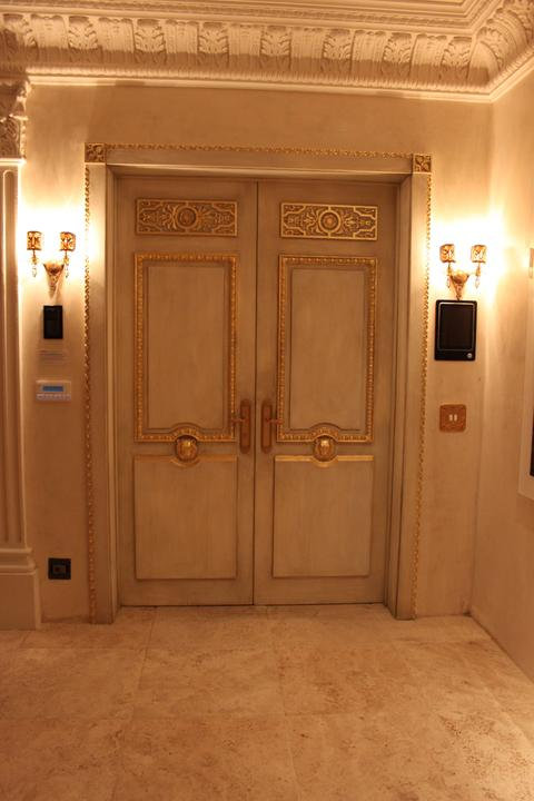 aged doors with gilding