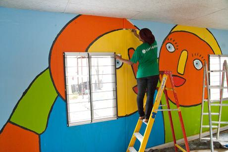 The murals, painted by Old Mutual volunteers