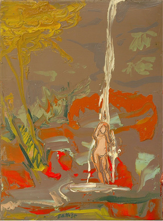 Nude under a waterfall - SOLD