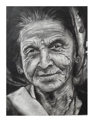 Wendy Girdlestone  Each line a life full of Wild Memories Medium: Charcoal on paper  R1500