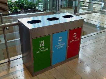 Stainless Steel recycling units at CTICC