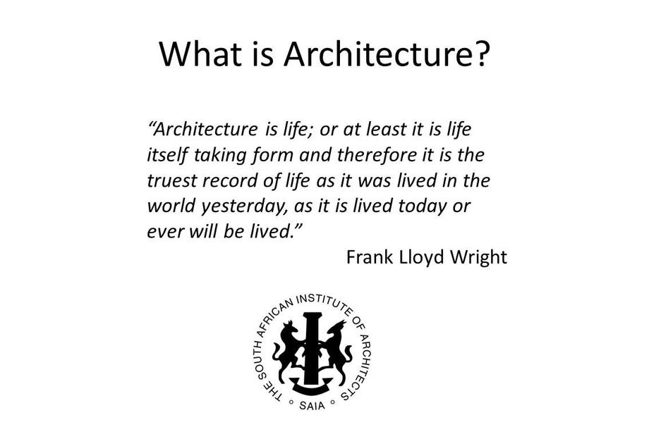 Architecture definition by architects for Architecture definition