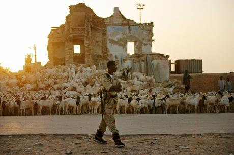 thumbnail for A soldier patrols in Bosaso, Somalia.