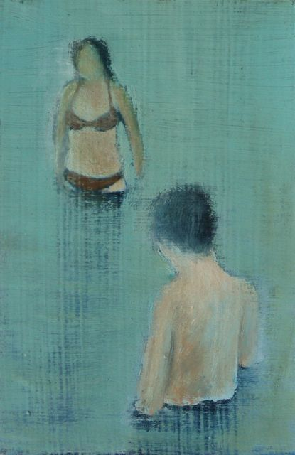 In the Water, Oil on board, 15,5 x 23,5 cm, 2003