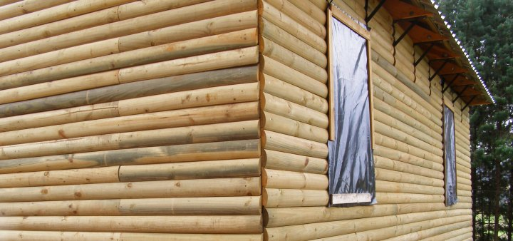 Log Cabin External Wall