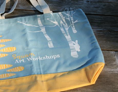 thumbnail for Detail of Illustration—year of the rabbit—Squam Art Workshops bag 2011