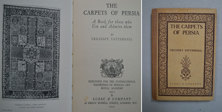 TATTERSHALL, C : The Carpets of Persia • London 1931 • # 8017 best £6 + another spine damaged £4