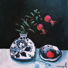 Delft vase with pomegranate