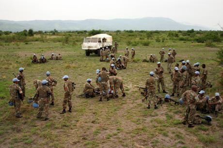 thumbnail for South African United Nations soldiers after a patrol, Goma, DR Congo.