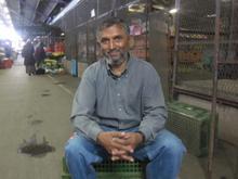 Actvist Roy Chetty at Durban's Early Morning Market