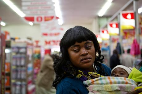 thumbnail for Lynn Misepo, 32, and her 7 month old baby Sibongile.- Shoprite, Matero Lusaka, Zambia