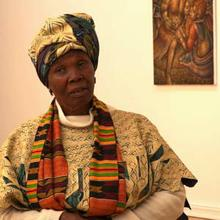 Mmakgabo Sebidi at her exhibition at the Everard Read Gallery in Johannesberg