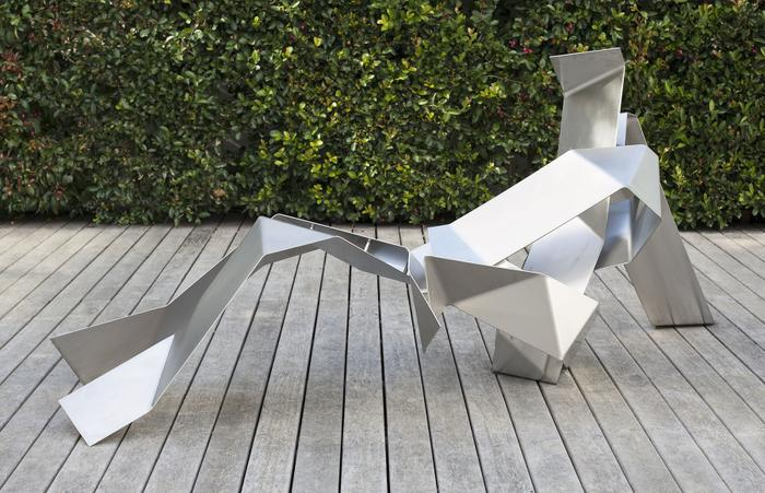 Anthony Lane:  Reclining man (Origami series)