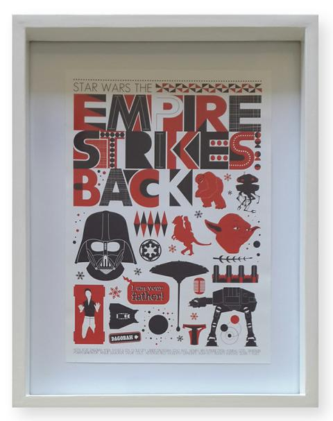 Empire Strikes Back -  Deep White Frame
