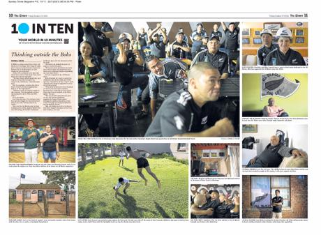 The Times (SA) - 10inTen - Thinking Outside the Boks - Fanatical South African All Blacks Fans