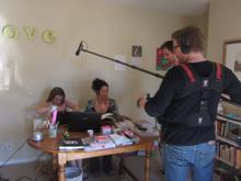 Filming Jen at her home office