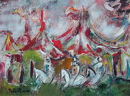 At the circus - SOLD