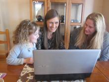 Maya, Tanya and director Lauren Groenewald