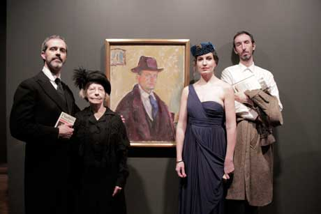 The Four Actors with the Final Painting